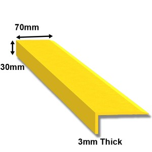 GRP Nosing Yellow 70 x 30mm